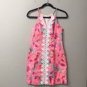 Lily Pulitzer pink sleeveless dress size 4.